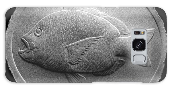 Relief Saltwater Fish Drawing Galaxy Case by Suhas Tavkar