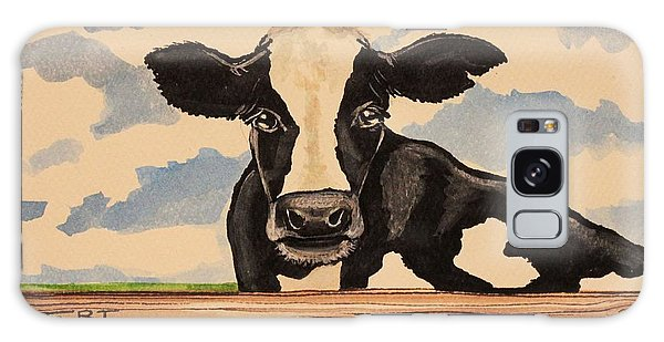 Say Hello To Patty The Cow Galaxy Case by Elizabeth Robinette Tyndall