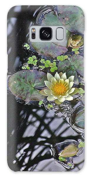 September White Water Lily Galaxy Case