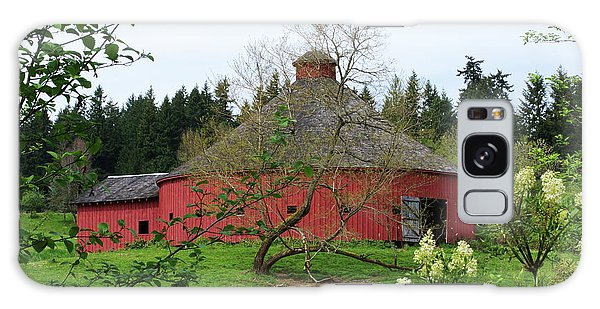 Spring At The Round Barn Galaxy Case by Ansel Price