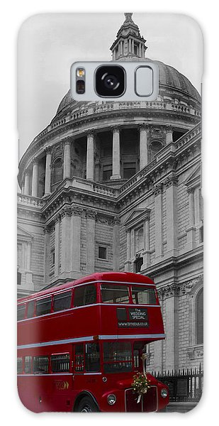 St Pauls Cathedral Red Bus Galaxy Case by David French