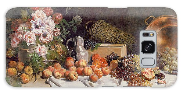 Still Life With Flowers And Fruit On A Table Galaxy Case