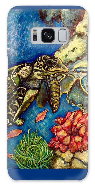Sweet Mystery Of The Sea A Hawksbill Sea Turtle Coasting In The Coral Reefs Original Galaxy Case