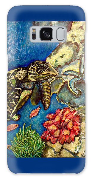 Sweet Mystery Of The Sea A Hawksbill Sea Turtle Coasting In The Coral Reefs Original Galaxy Case by Kimberlee Baxter