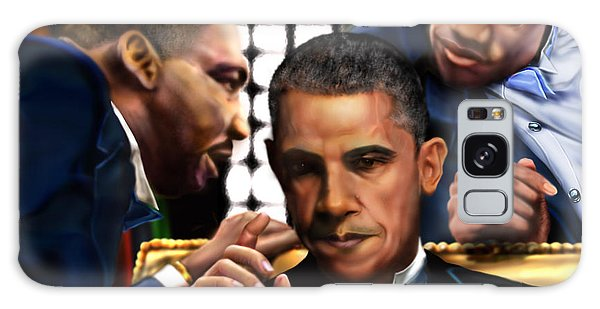 Barack Obama Galaxy Case -  Sub Rosa The Council Of Made Men Iron Sharpening Iron by Reggie Duffie