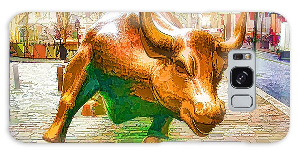 The Landmark Charging Bull In Lower Manhattan  Galaxy Case
