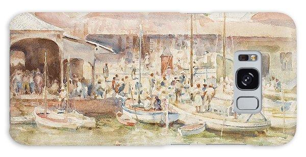 Central America Galaxy Case -  The Market Belize British Honduras by Henry Scott Tuke