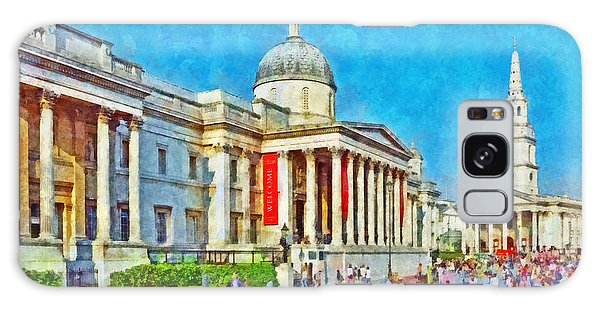 The National Gallery And St Martin In The Fields Church Galaxy Case
