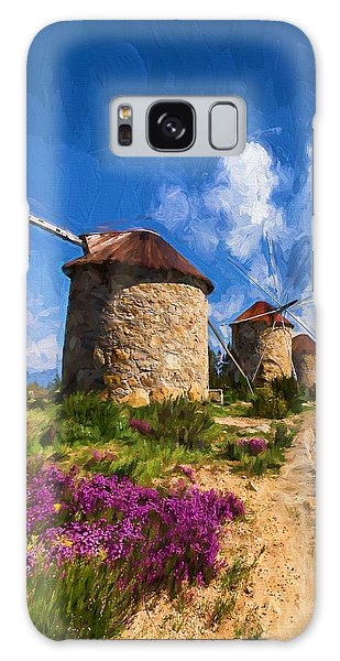 Windmills Of Portugal Galaxy Case