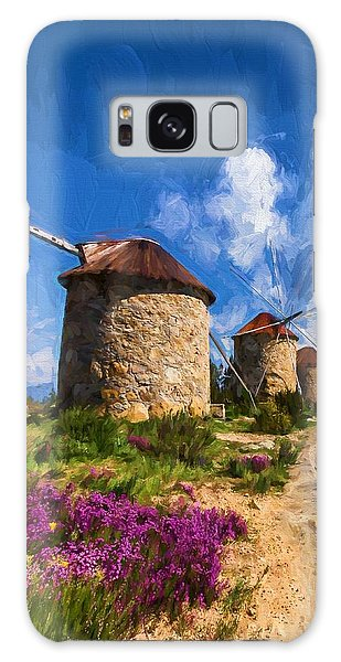 Windmills Of Portugal Galaxy Case