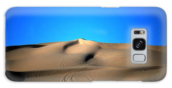 Yuma Dunes Number One Bright Blue And Tan Galaxy Case