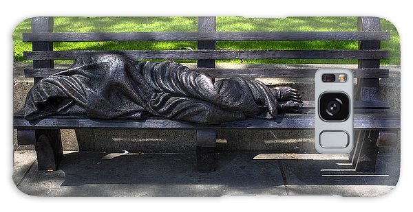 02 Homeless Jesus By Timothy P Schmalz Galaxy Case