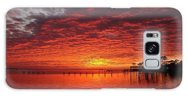 0205 Awesome Sunset Colors On Santa Rosa Sound Galaxy Case