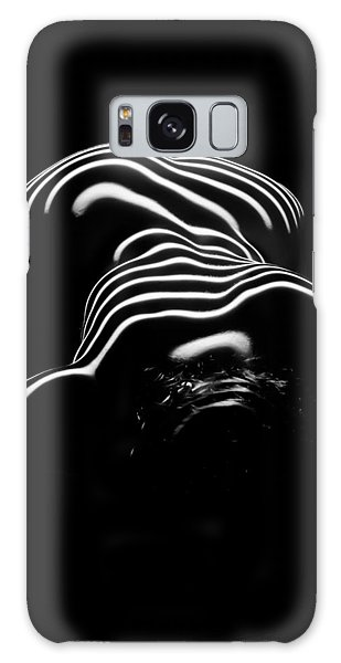 0686-ar Head Down Bottom Up Zebra Striped Female Figure Galaxy Case by Chris Maher