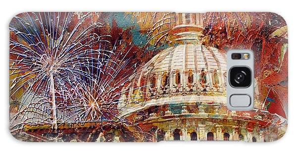 070 United States Capitol Building - Us Independence Day Celebration Fireworks Galaxy Case
