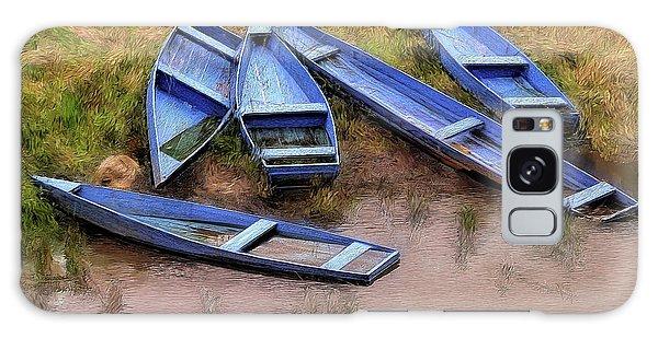 Blue Boats Galaxy Case
