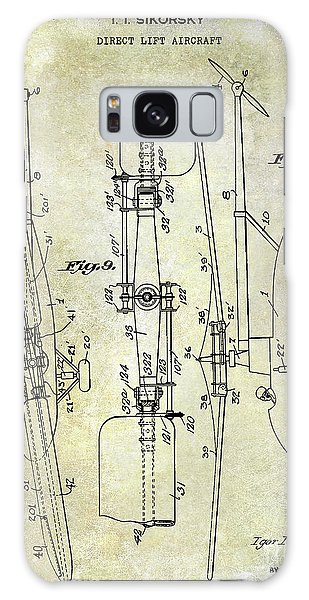 Helicopter Galaxy S8 Case - 1935 Helicopter Patent  by Jon Neidert