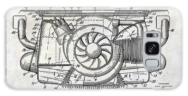 Patent Galaxy Case - 1962 Porsche Engine Patent by Jon Neidert