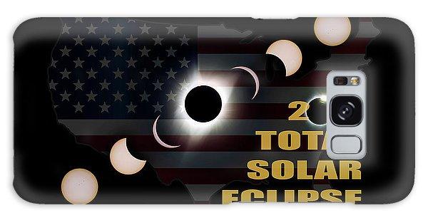 2017 Total Solar Eclipse Across America Galaxy Case