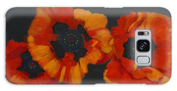 3 Poppies Galaxy Case