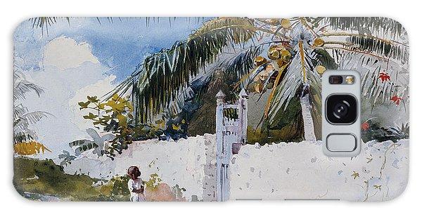 Wall Paper Galaxy Case - A Garden In Nassau by Winslow Homer