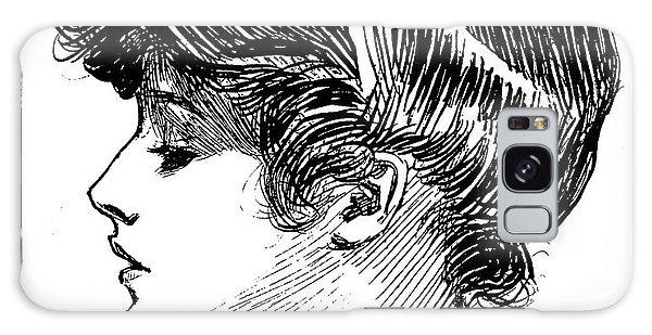 Beautiful Girl Galaxy Case -  A Gibson Girl by Charles Dana Gibson
