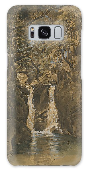 Waterfall Galaxy Case - A View Of Lower Rydal Falls, Cumbria by Thomas Fearnley