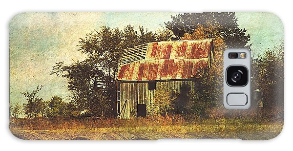 Abandoned Countryside Barn And Hay Rolls Galaxy Case