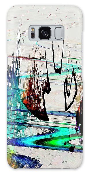 Galaxy Case featuring the painting Abstract 1001 by Gerlinde Keating - Galleria GK Keating Associates Inc