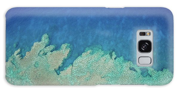 Abstract Aerial Reef Galaxy Case
