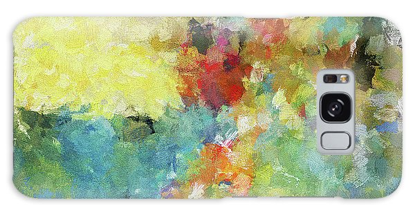 Abstract Seascape Painting Galaxy Case by Ayse Deniz