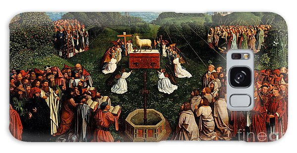 Jan Galaxy Case - Adoration Of The Mystic Lamb by Hubert Eyck and Jan van Eyck