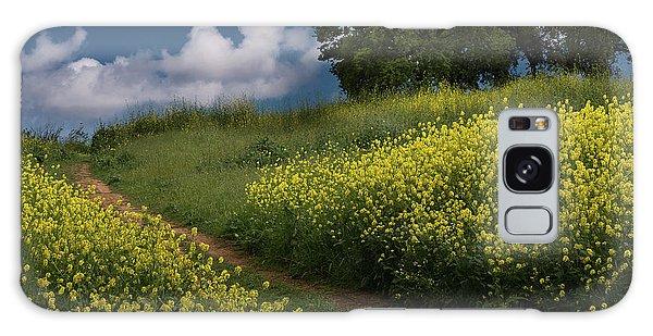 Almaden Meadows' Mustard Blossoms Galaxy Case