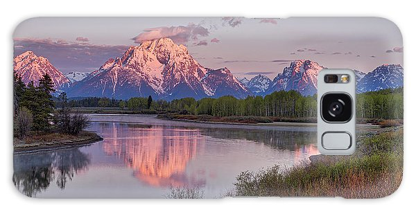 Alpenglow At Oxbow Bend Galaxy Case