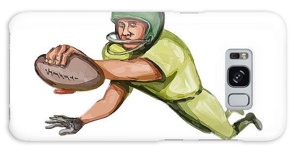 Sportsman Galaxy Case - American Football Player Touchdown Caricature by Aloysius Patrimonio