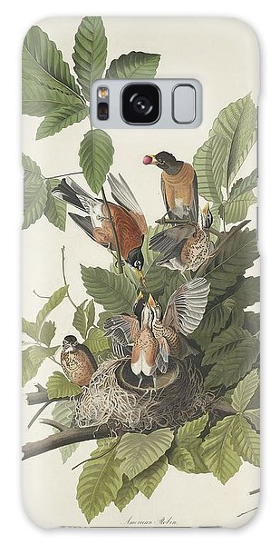 Engraving Galaxy Case - American Robin by Dreyer Wildlife Print Collections