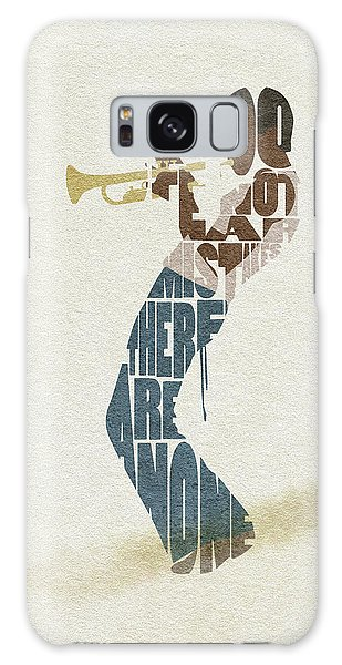 Galaxy Case featuring the digital art Miles Davis Typography Art by Inspirowl Design