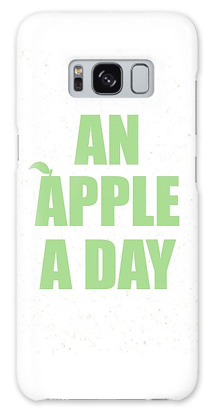 Thought Provoking Galaxy Case - An Apple A Day by Samuel Whitton