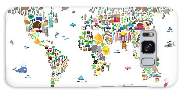 Animal Map Of The World For Children And Kids Galaxy Case