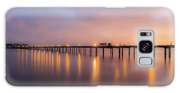 Anna Maria City Pier , Anna Maria Island Sunrise  Galaxy Case