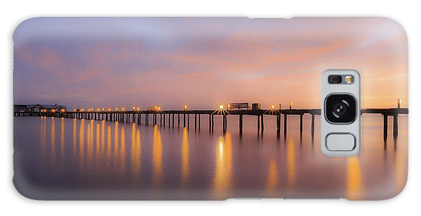 Anna Maria City Pier , Anna Maria Island Sunrise  Galaxy Case