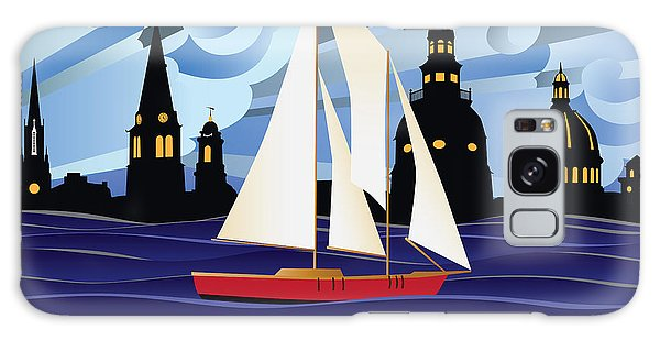 Annapolis Skyline Red Sail Boat Galaxy Case