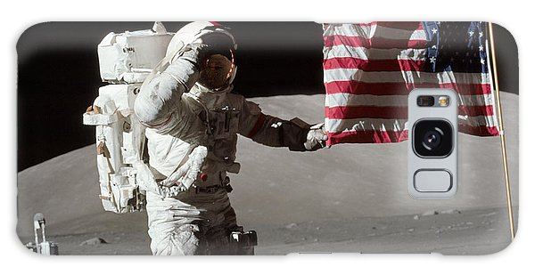 Astronauts Galaxy S8 Case - Apollo 17 Astronaut Salutes The United by Stocktrek Images