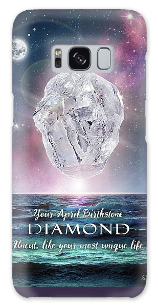 April Birthstone Diamond Galaxy Case