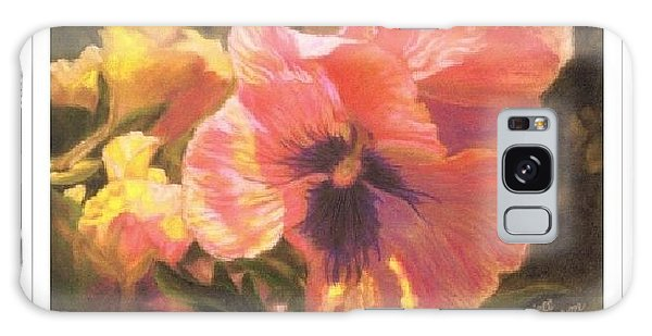Art Card - Caroline's Pansies Galaxy Case