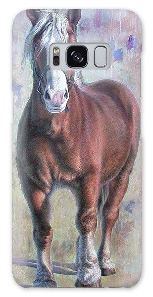 Arthur The Belgian Horse Galaxy Case