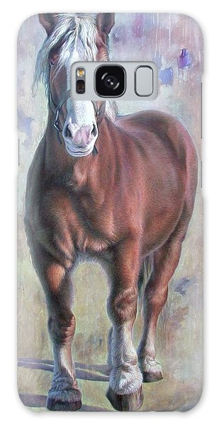 Arthur The Belgian Horse Galaxy Case