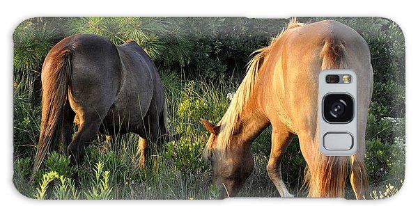 Asateague Horses 6 Galaxy Case