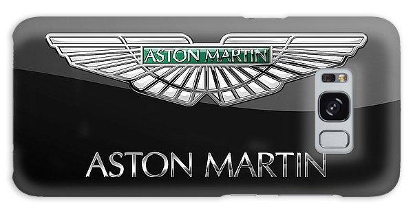Automotive Galaxy Case - Aston Martin 3 D Badge On Black  by Serge Averbukh