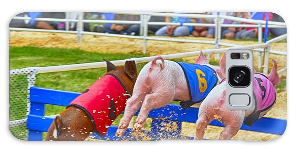 Galaxy Case featuring the photograph At The Pig Races by AJ Schibig